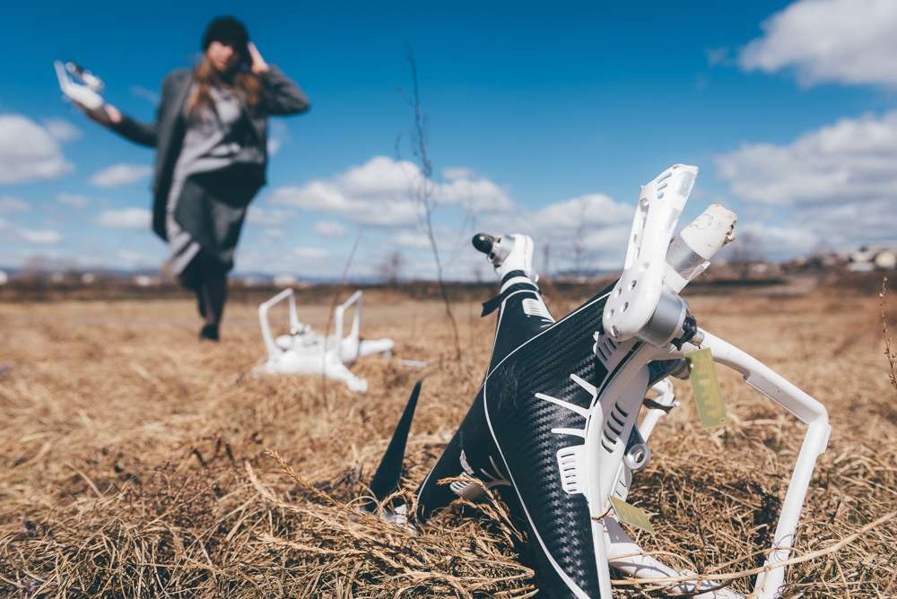 Wenn eine Drohne abstürzt, hilft eine Haftpflichtversicherung
