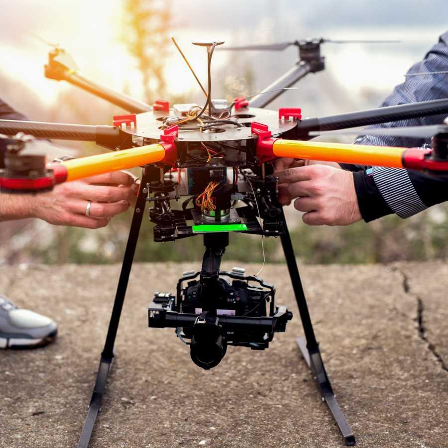 Multicopter Quadrocopter können relativ groß sein